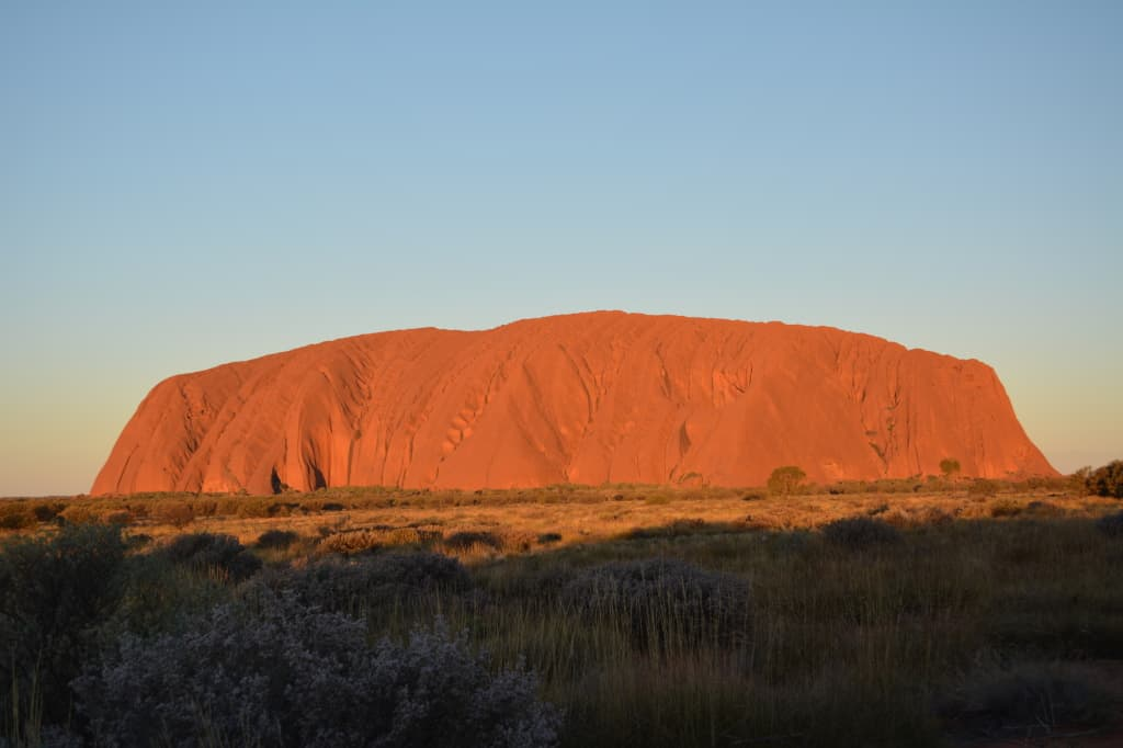 Spectacular colours at Uluru