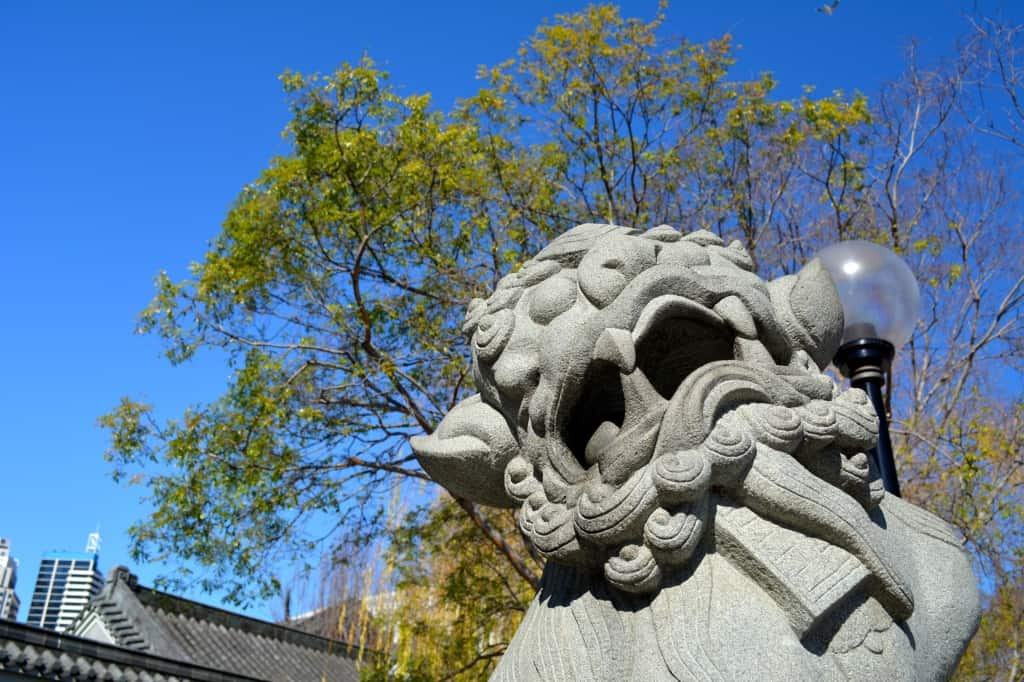 Dragon at Chinese Garden of Friendship