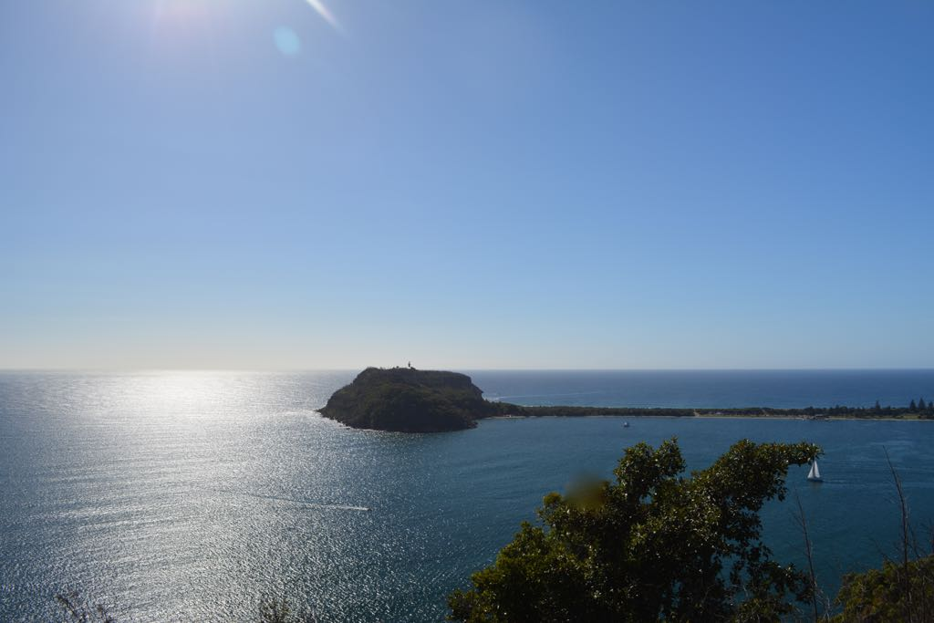 Early morning Barrenjeoy Lighthouse as seen from West Head