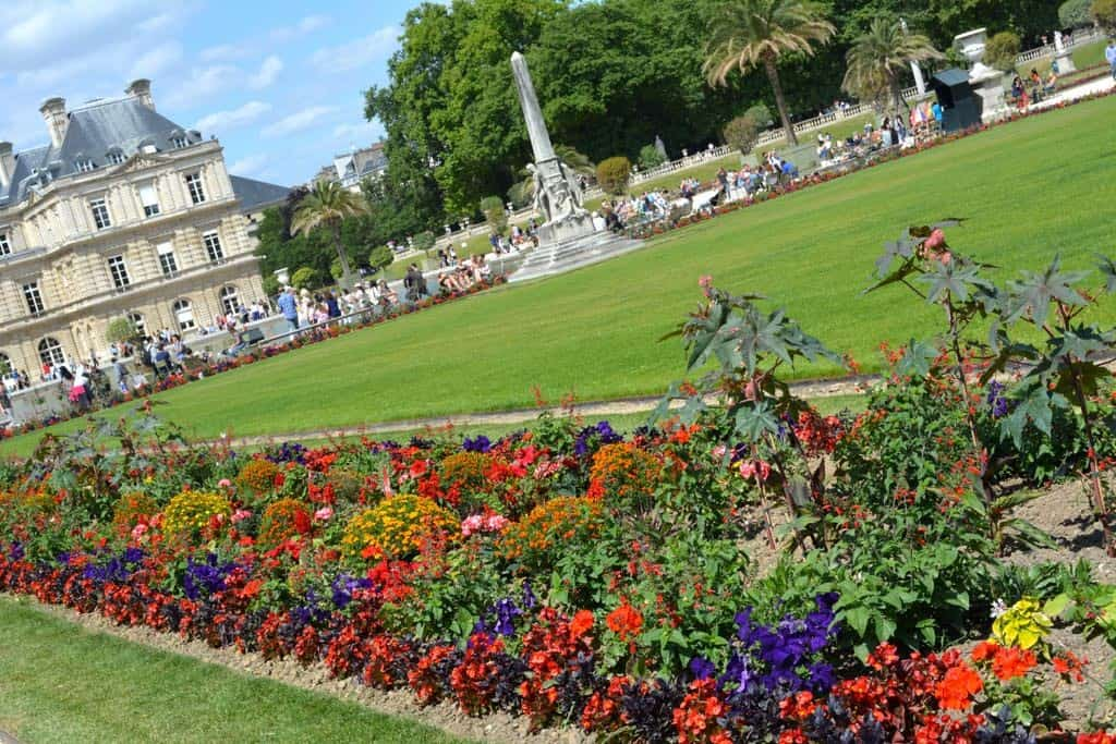 Colourful flower beds in this formal garden