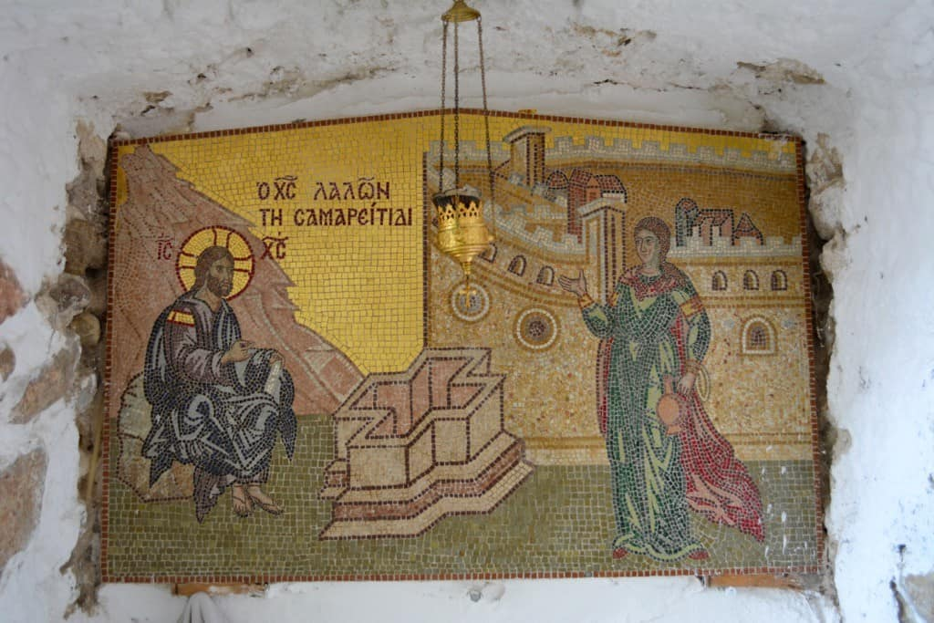 A mosaic in the monastery
