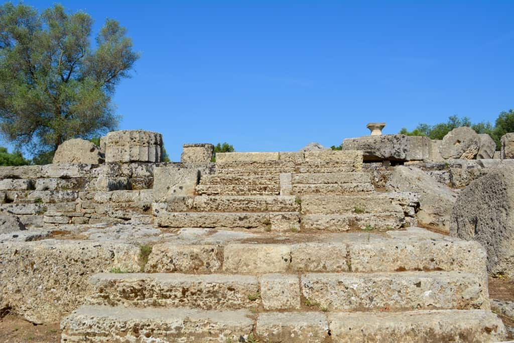Stairs leading up to the temple