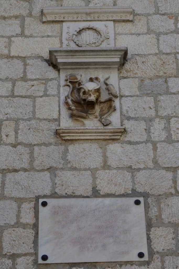 A gruesome relief on one of the walls in Kotor. The town is steeped in history and has a lot of stories to tell.