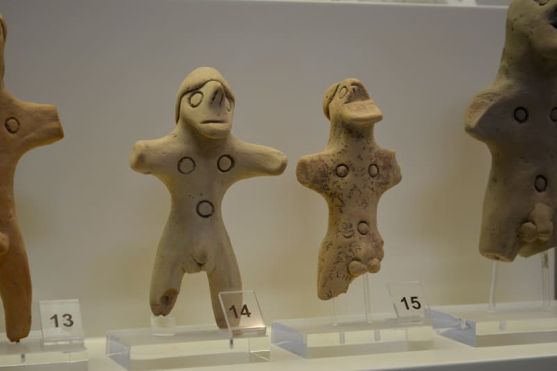 Little figurines in the Olympic Museums