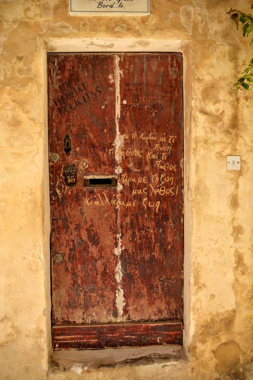 A hidden door in Mdina