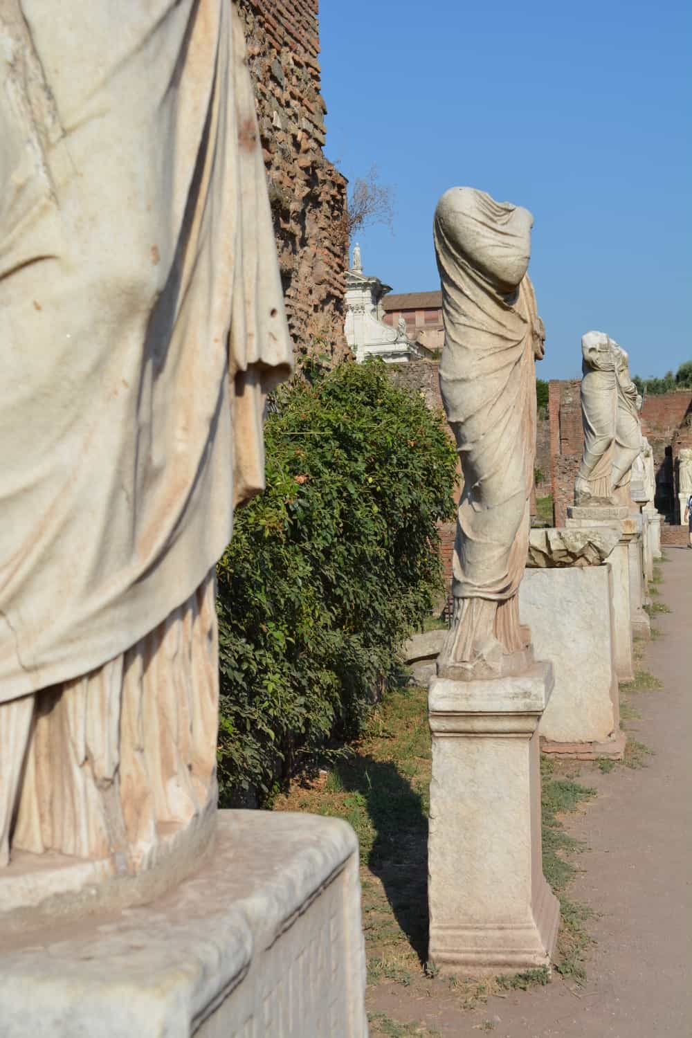 Statues in the House of the Vestal Virgins