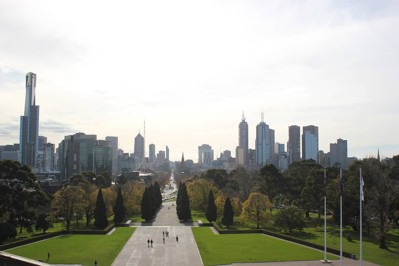 Melbourne is a green city and has a lot of parks and playgrounds to choose from.