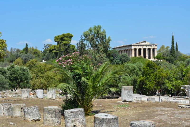 Temple of Hephaestus in the background