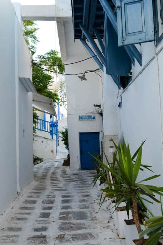 A road in Mykonos Town