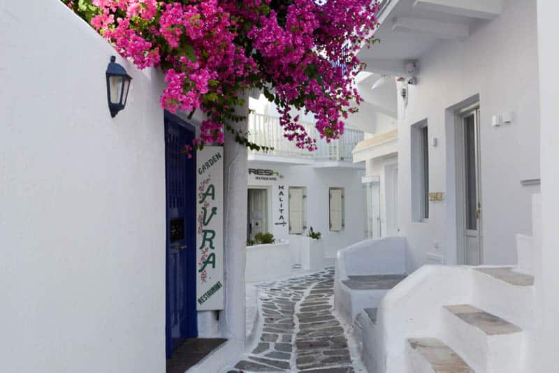 Old town of Mykonos