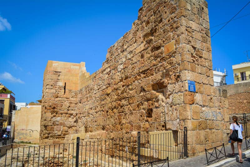 The impressive city walls of Chania were once up to 20 metres high.