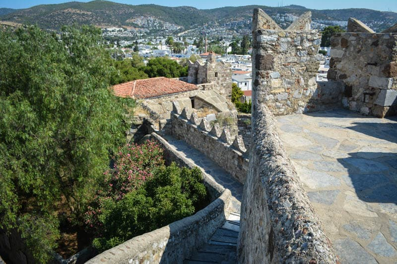 Looking over the ramparts of Bodrum castle