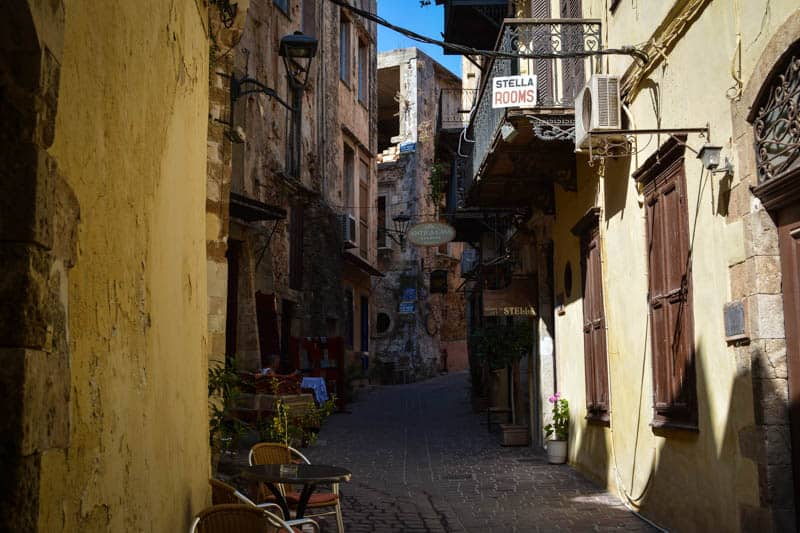 The pretty streets of Chania's old town are full of charm and quite atmospheric.