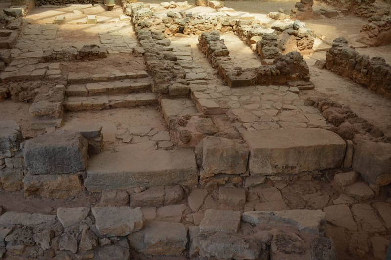 Minoan remains can be found close to the Knife District in Chania.