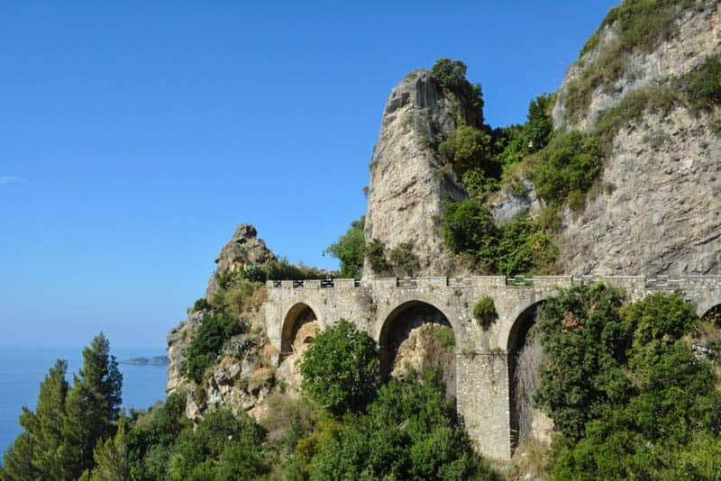 The legendary Amalfi Coastal Route - quite miraculously it takes up space that doesn't really exist.