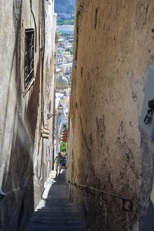 Positano is a day trip destination that requires some mobility. Stairs and steep, narrow roads make exploring the town an outright adventure.