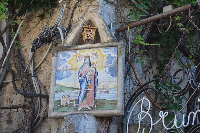Many little details like this Madonna picture make this town a joy to explore.