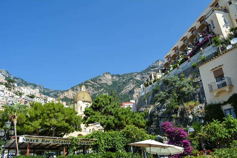 Space is at a premium in Positano. The mountains around the town are very, very steep.