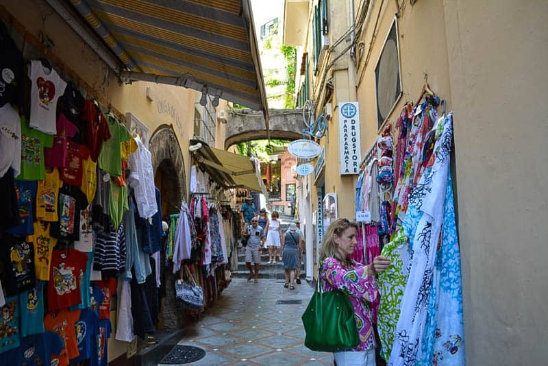 Shopping is big in Positano: Boutiques and souvenir shops sell everything from the cheap and tacky to the elegant and pricey.