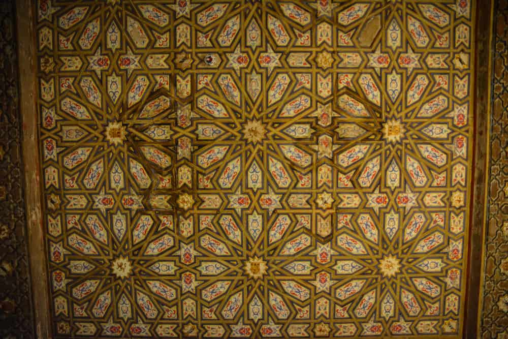 Tiles, mosaics and plasterwork add femininity and playfulness to the design.