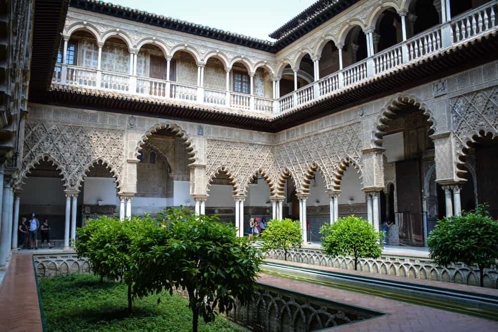 The Maiden's Courtyard is one of the most iconic places in the Alcazar.