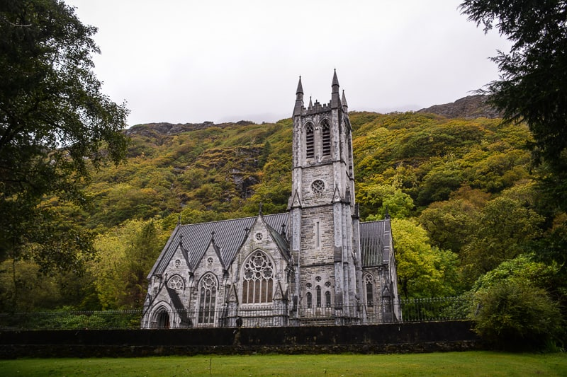Neo-Gothic church at Kylemore Abbey