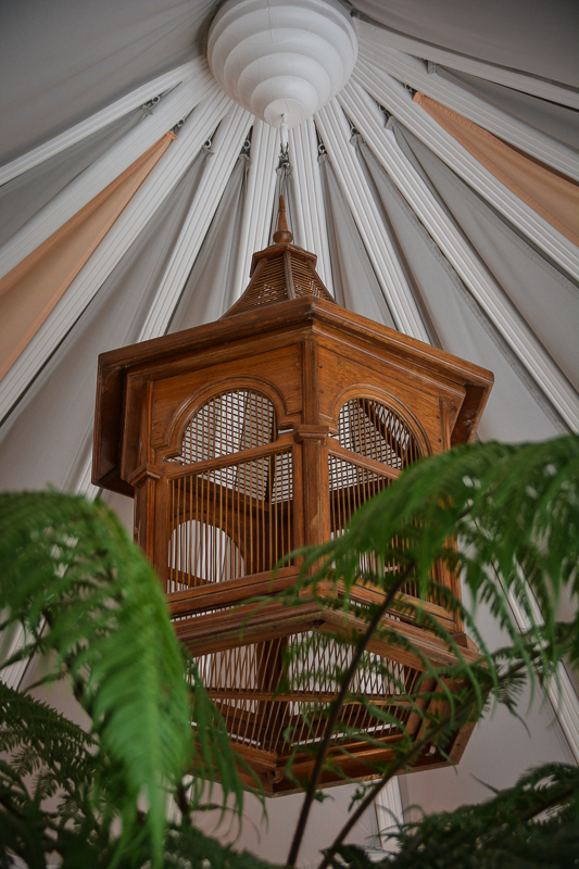 Bird cage inside the conservatory