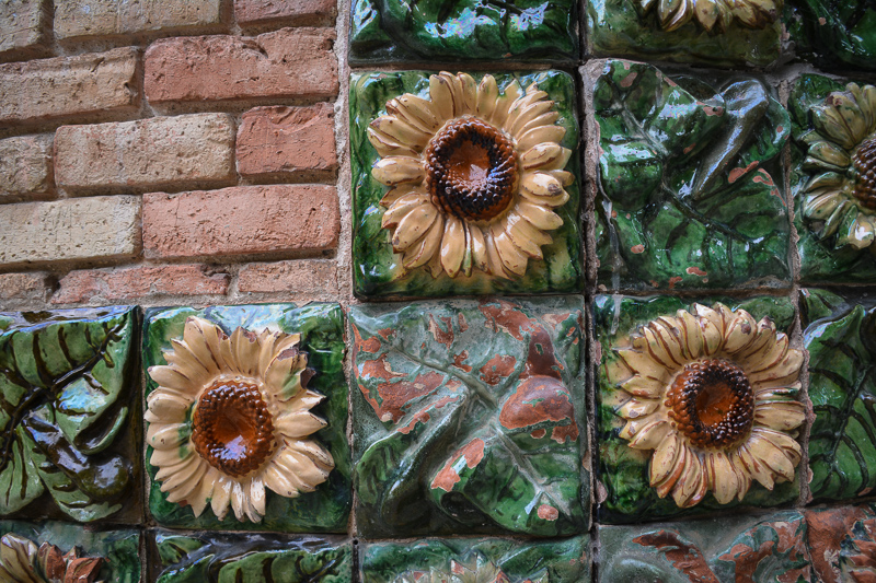 Sunflower tile detail