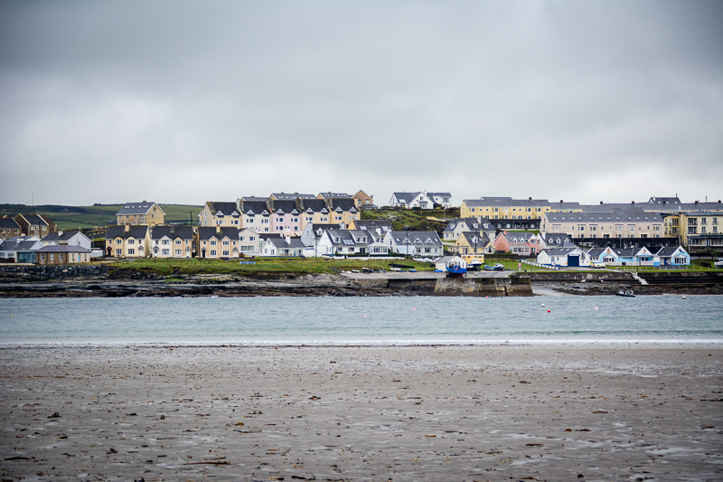 The town of Kilkee on a rainy day