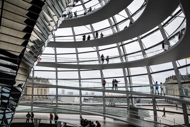 The Reichstag Dome is one of the many free attractions you can visit in Berlin.