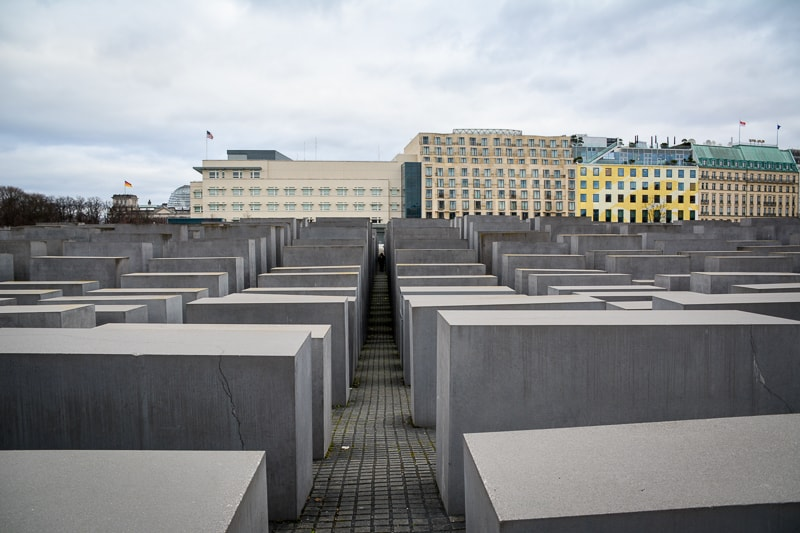 The Holocaust Memorial in Berlin is great to explore with kids