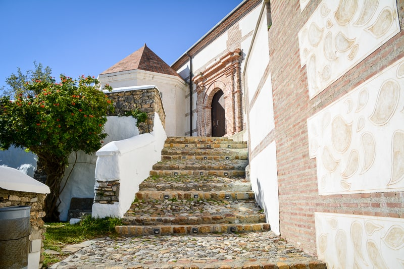 Stairs leading up to the church