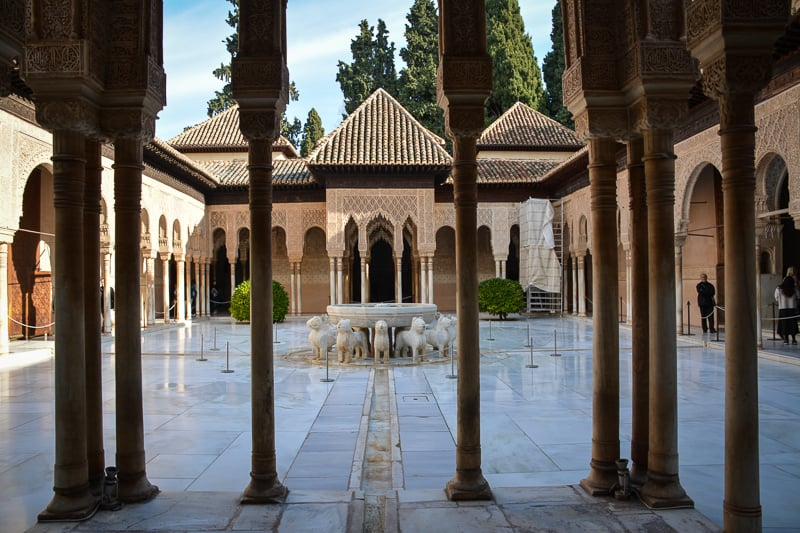 The Lion Court at the Alhambra in Granada is an iconic picture which you can find on covers of guidebooks and on postcards.