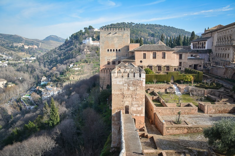 The ruins and palaces of the Nasrid dynasty at Alhambra and Generalife