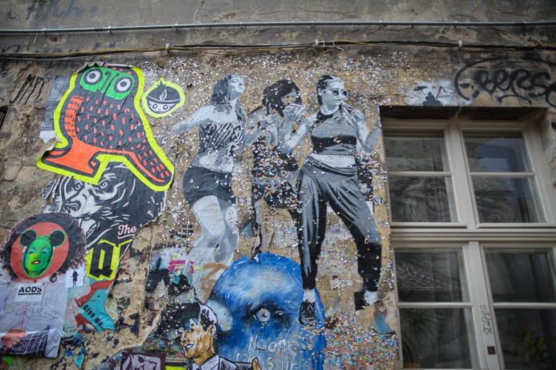 Street Art in Berlin: Hackesche Hoefe