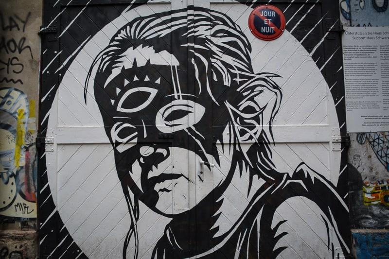 A mural near Hackesche Hoefe
