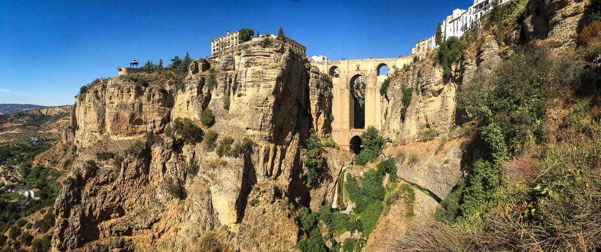 The Puente Nuevo in Ronda is the most prominent attraction in town. But there is so much more to see in Ronda, you could easily spend a couple of days here and won't get bored. A must-do is a hike to the bottom of the gorge to see the bridge from below.