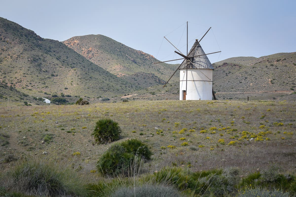 One of the many historic windmills in Cabo de Gata Natural Park