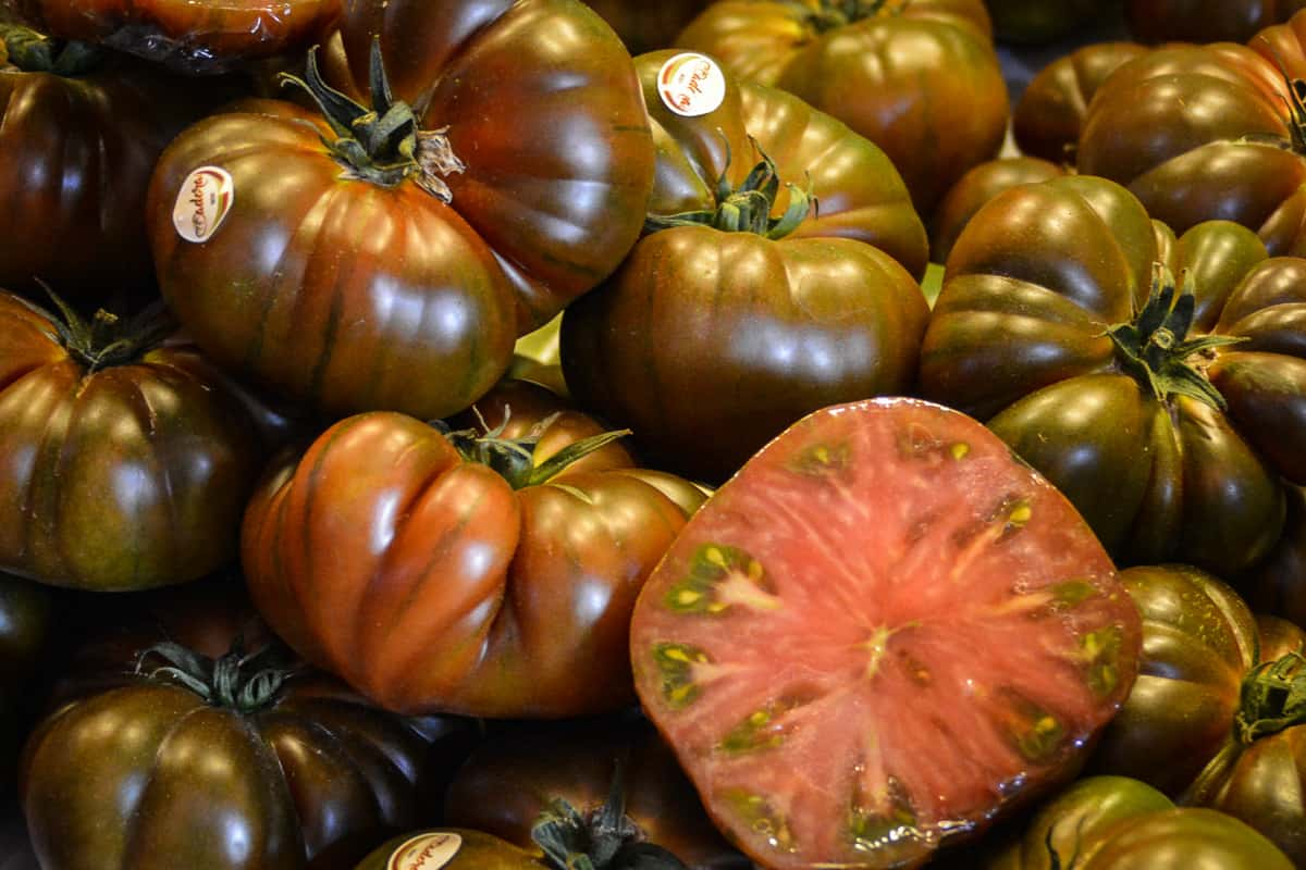 Spaniards love to cook with tomatoes. This black variety is bigger than in your wildest dreams.