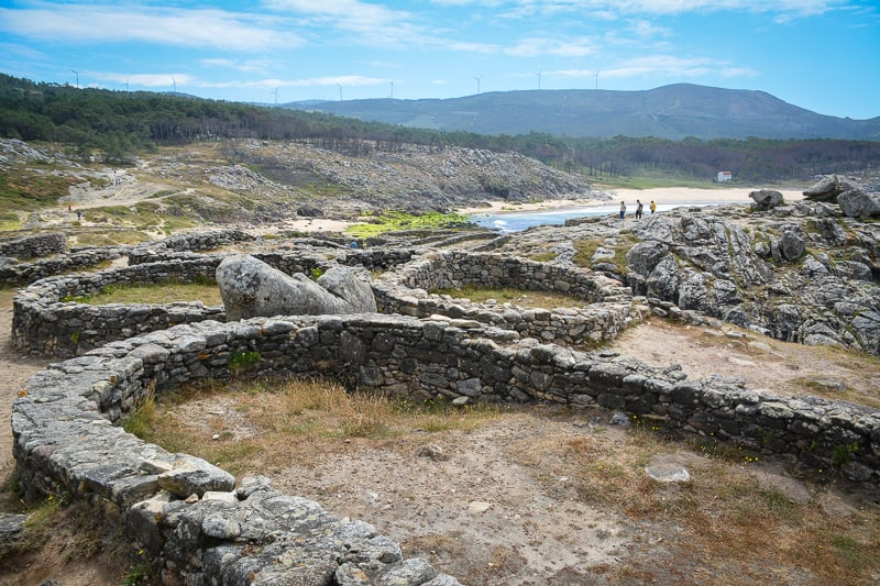 Castro de Baroña is the remains of an Iron Age fort by the sea in Galicia. The ring structrues of the foundations add a bit of magic to the place.