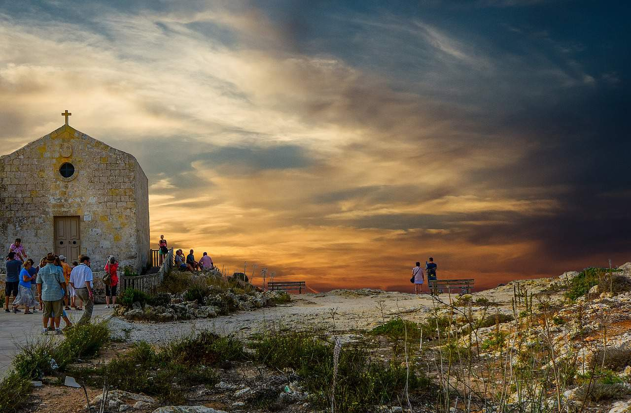 The Dingli Cliffs are great for catching a romantic sunset, one of the most beautiful places in Malta indeed.