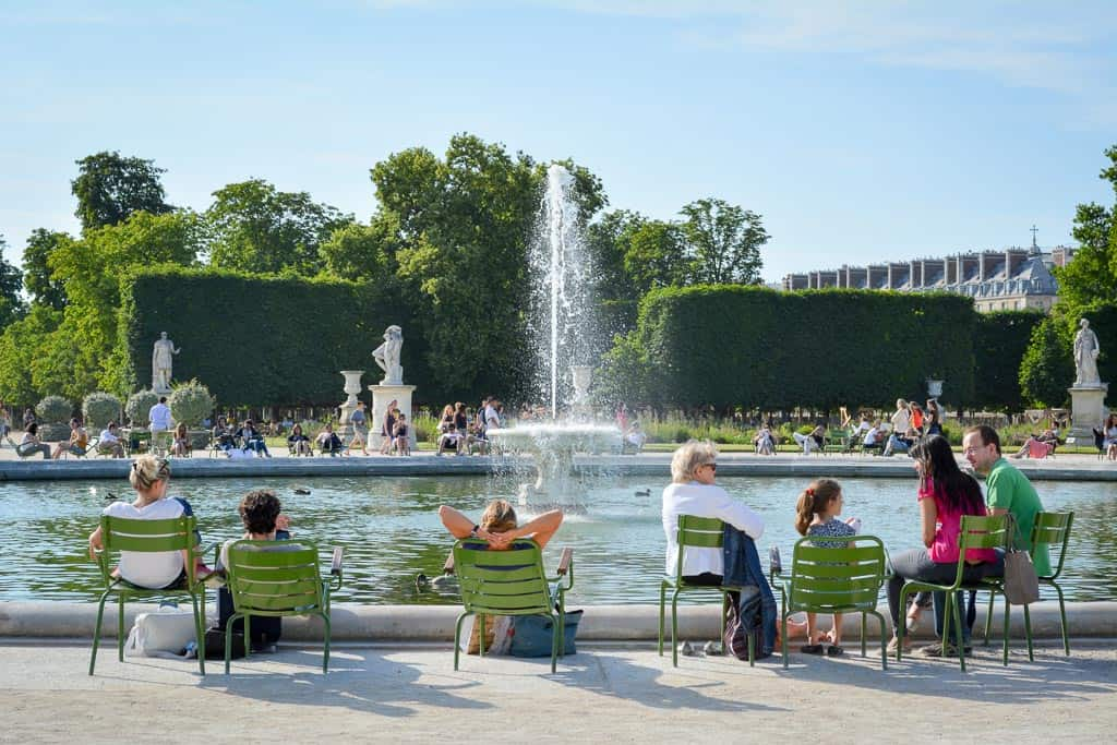 The water in the fountain in the Touleries Gardens looks so refreshing! A great place to spend a lazy Parisian afternoon in summer.