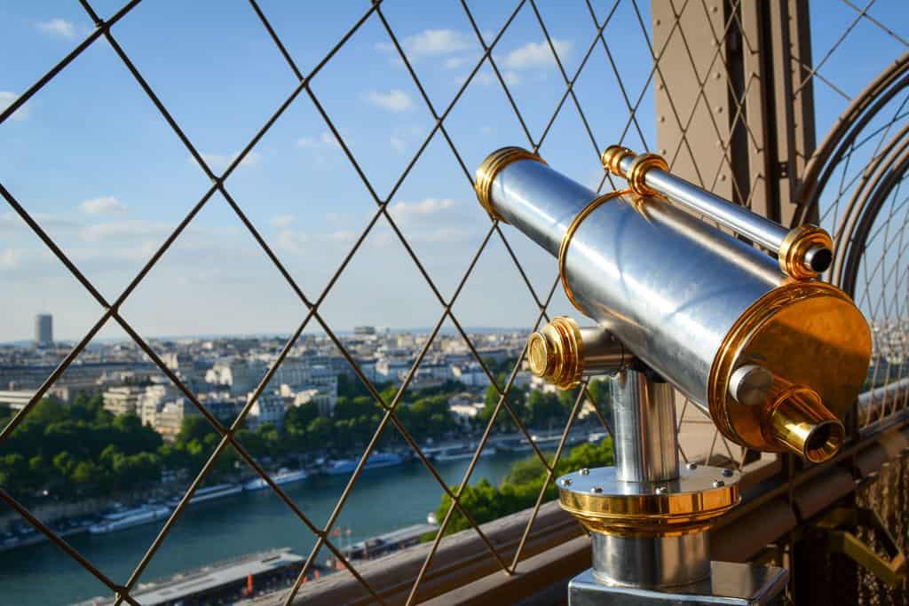 You cannot miss the wonderful views from the Eiffel Tower. If you choose the cheaper option of stairs tickets, you also get some amazing insights into the structure of the tower.