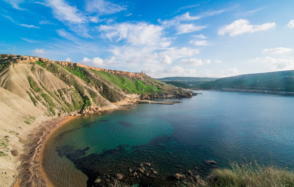 Għajn Tuffieħa is home to three of Malta's most beautiful beaches.