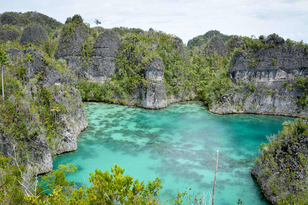 This star-shaped bay in Pianemo in Raja Ampat is just one of the many natural wonders you can explore in the region.