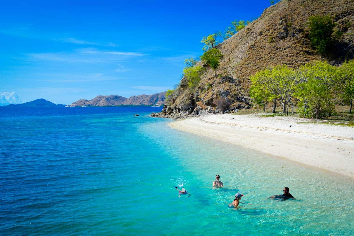 Swimming in Komodo National Park is a bit like swimming in paradise... just look at these colours!
