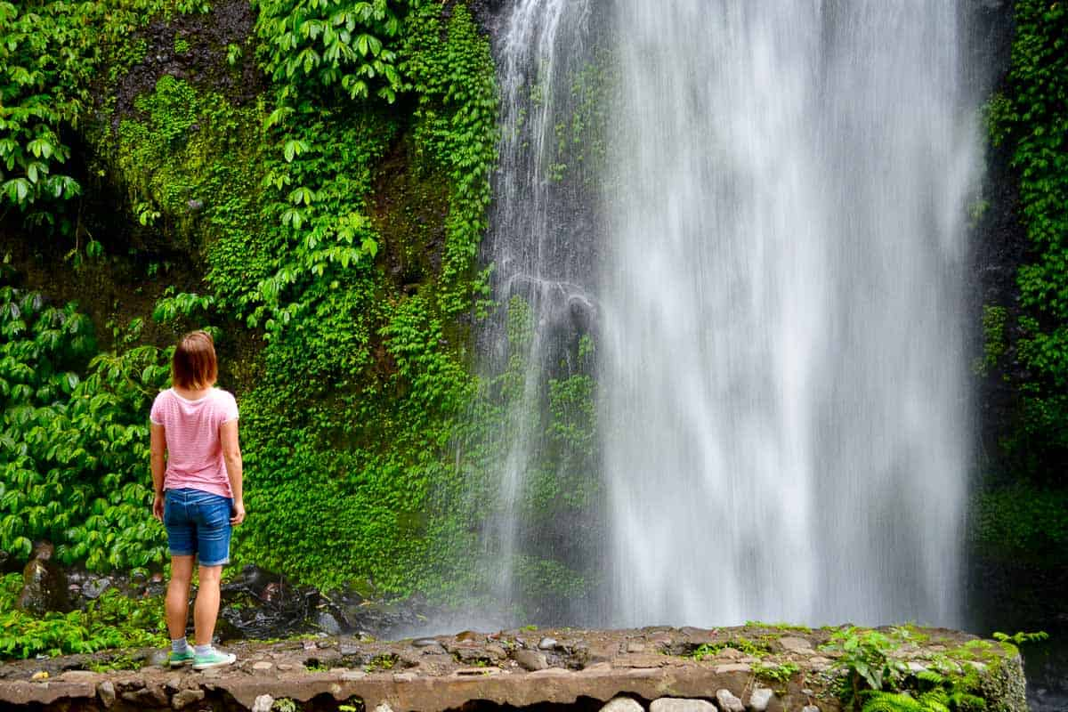 When you are in Lombok, trekking to one of the waterfalls with their cool water is a must.