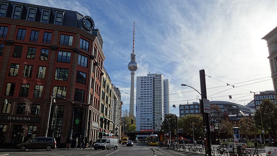 Alexanderplatz is the busy center in East Berlin. A great place to stay if you need good transport and shopping.