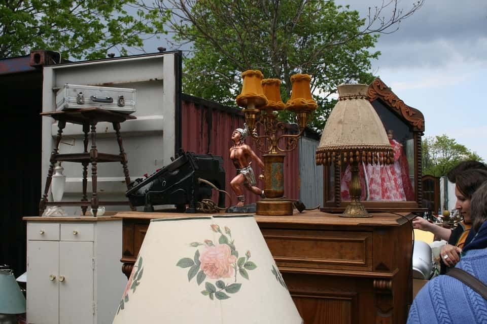 Berlin Mauerpark in Prenzlauer Berg is the location of one of the best flea markets in Berlin.
