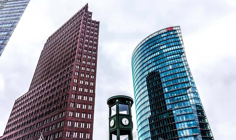 Potsdamer Platz is the third of three centers in Berlin. It is located on the former inner German border and is best known for its modern architecture.